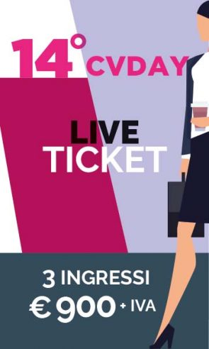 14CVD LIVE TICKET 3 ingressi